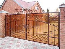 Ворота с полигаля