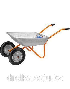 Тачка садовая двухколесная СИБИН 39909, 65 л, грузоподъемность 100 кг, фото 2