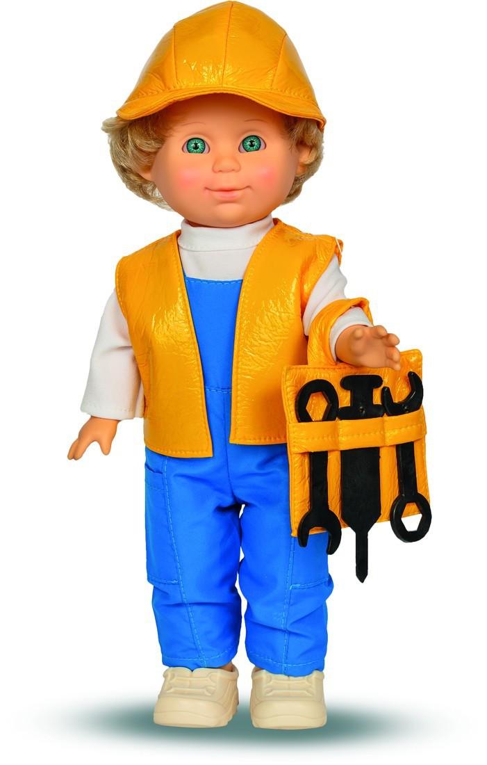 Кукла Митя строитель со звуком