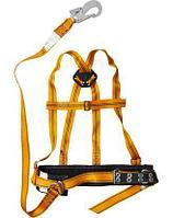 Страховочный монтажный пояс СИБИН 11565, ППВА, лямочный, материал стропы - лента, с наплечными лямками