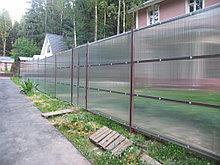 Забор с поликарбоната