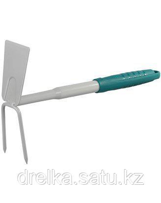 Тяпка мотыга RACO 4207-53486, STANDARD, садовая, прямое лезвие, рыхлитель 2 зубца, 320 мм , фото 2
