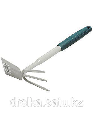 Тяпка мотыга RACO 4207-53487, STANDARD, садовая, прямое лезвие, рыхлитель 3 зубца, 320 мм