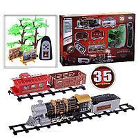 Детская железная дорога на радиоуправлении со светом и дымом Мой поезд 35 деталей