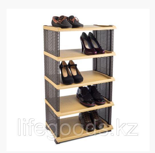 Этажерка для обуви Rattan пластик 5 полок, Tuffex/Alkan TP7011