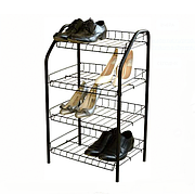 Этажерка для обуви 4 полки металл, Ника ЭТ2