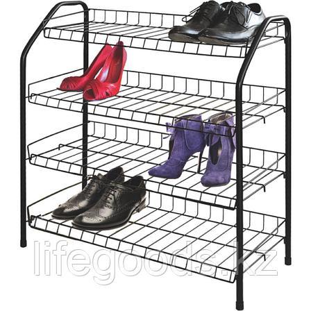 Этажерка для обуви 4 полки металл, Ника ЭТ1, фото 2