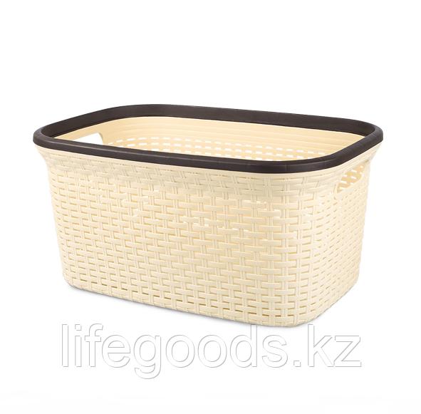 Корзина для белья Rattan пластик 36л, Tuffex TP7001