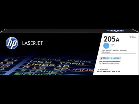 HP CF531A Картридж лазерный HP 205A, синий, ресурс 1100 стр