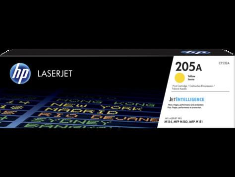 HP CF532A Картридж лазерный HP 205A, желтый, ресурс 1100 стр