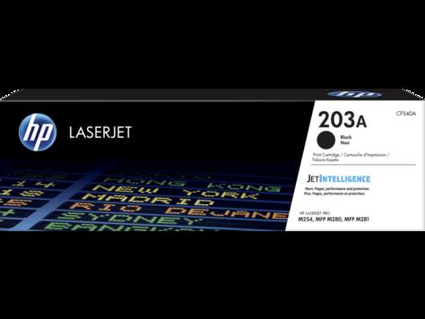 HP CF540A картридж лазерный HP 203A, черный, ресурс 1400 стр