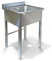 Ванна моечная 1 секционная Эконом серия 600 оцинкованный фартук