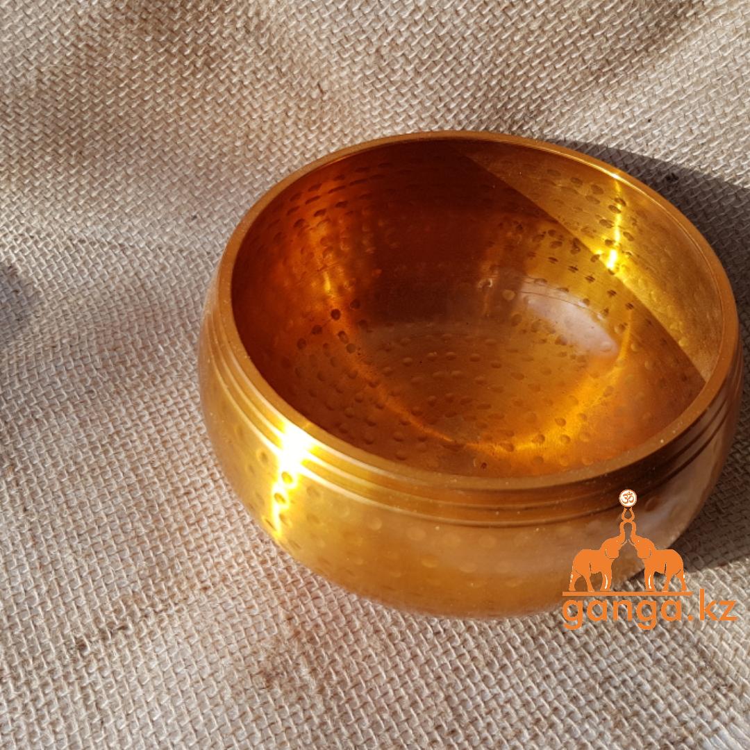 Поющая чаша Золотистая, 14 см