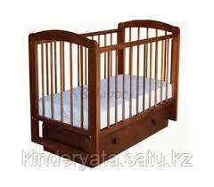 Кроватка детская Ксюша с 2 ящиками (орех)