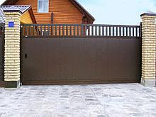 Консольные ворота с металласайдинга