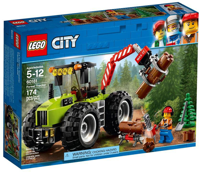 60181 Lego City Лесной трактор, Лего Город Сити