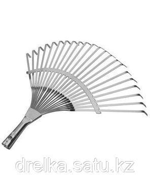 Грабли веерные RACO 4231-53/732, 22 плоских зубца, гальванизированное покрытие, 450 мм , фото 2