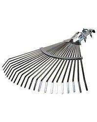 Грабли веерные RACO 4231-53/736, регулируемые, 22 плоских зубца, гальванизированное покрытие, 300-450 мм