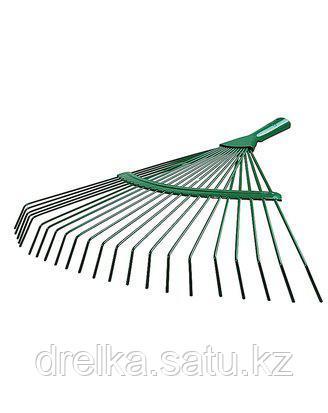 Грабли веерные RACO 4231-53/737, 22 круглых зубца, эпоксидное покрытие, 450 мм