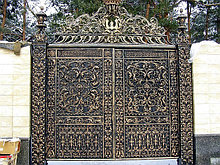 Иранская ковка ворота