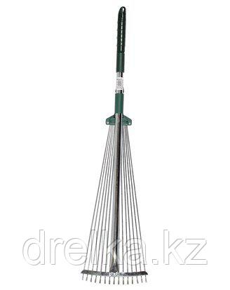 Грабли веерные RACO 4231-53/744, регулируемые, с ручкой 0,79-1,24 м, 15 круглых зубцов