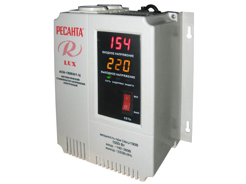 Стабилизатор 1000/1 АСН  Ц Ресанта  LUX