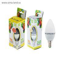 Лампа светодиодная ASD LED-СВЕЧА-standard, Е14, 7.5 Вт, 230 В, 3000 К, 675 Лм