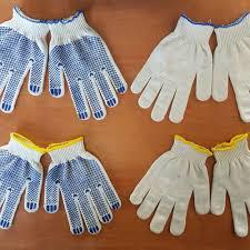 Перчатки хозяйственные с ПВХ пропиткой
