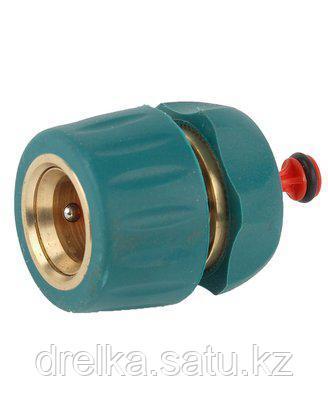 Соединитель RACO Profi-Plus (шланг-насадка), латунный с покрытием TPR, с автостопом, 1/2, 4244-55105B , фото 2