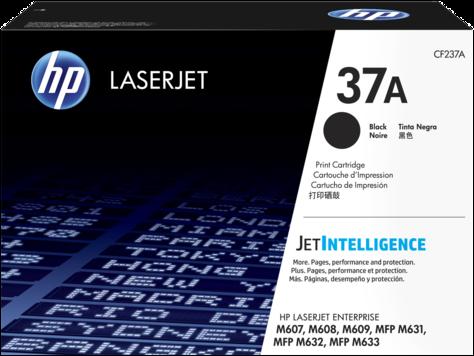 HP CF237A HP 37A Оригинальный лазерный картридж, Черный