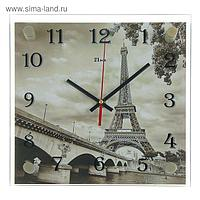 """Часы настенные, серия: Город, """"Эйфелева башня"""", 25х25 см, микс"""
