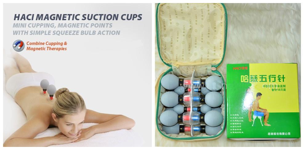 Банки-присоски акупунктурного действия - Magnetic Acupressure suction cup 18 штук