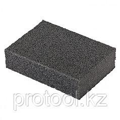 Губка для шлифования, 100 х 70 х 25 мм, мягкая, P80 // MATRIX