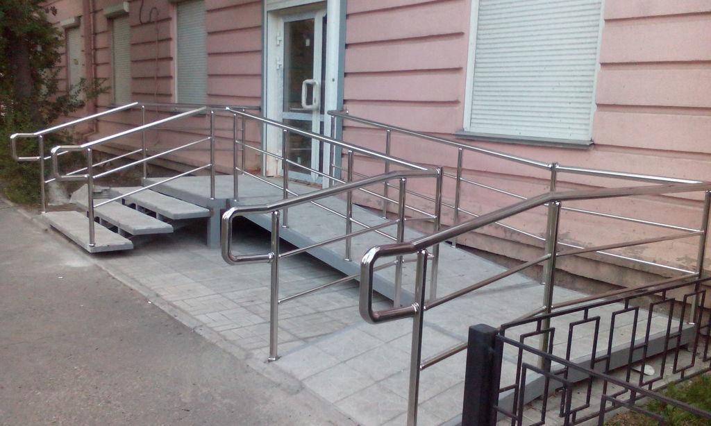 Инвалидный пандус из нержавеющей стали
