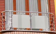 Балкон из нержавейки со стеклом