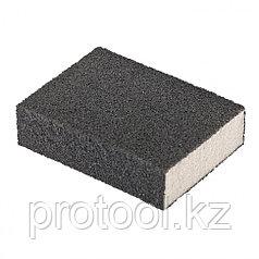 Губка для шлифования, 125 х 100 х 10 мм, мягкая, P80 // MATRIX