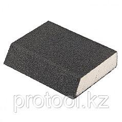 Губка для шлифования, 100 х 70 х 25 мм, овал, твердая, P40 // MATRIX