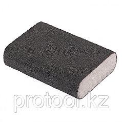 Губка для шлифования, 100 х 70 х 25 мм, овал, твердая, P80 // MATRIX
