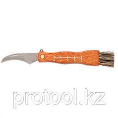 Нож грибника малый, деревянная рукоятка// PALISAD