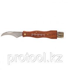 Нож грибника большой, деревянная рукоятка// PALISAD