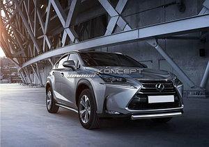 Защита переднего бампера 75x42 овал Lexus NX 2014-