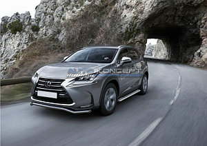 Защита переднего бампера d57 волна Lexus NX 2014-