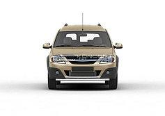 Обвес, защита бамперов, порогов из нержавеющей стали Lada Largus Cross 2014-