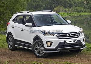 Защита переднего бампера d57 уголки Hyundai Creta 2016-