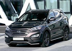 Защита переднего бампера d57 волна Hyundai Santa Fe 2012-2016