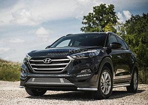 Защита переднего бампера d42 уголки Hyundai Tucson 2015-
