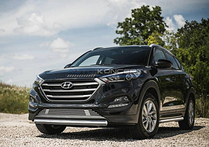 Защита переднего бампера 75x42 овал Hyundai Tucson 2015-