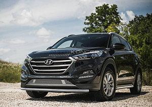 Защита переднего бампера d57 Hyundai Tucson 2015-