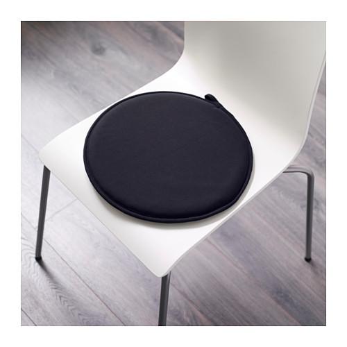 Подушка на стул ЦИЛЛА черный ИКЕА, IKEA - фото 2