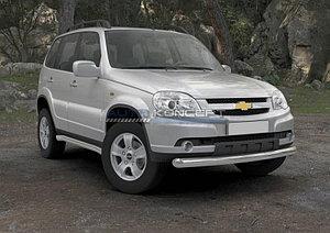 Защита переднего бампера d76 Chevrolet Niva 2009-